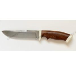 Авторский нож ручной ковки (булат, дерево, кость)