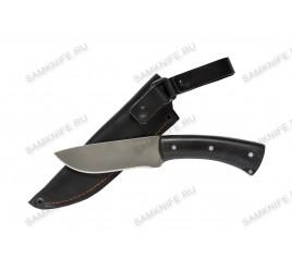 Нож ручной ковки Боровик (булат, чёрный граб)