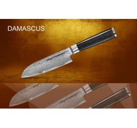 Нож кухонный стальной Сантоку Samura Damascus SD-0092/16