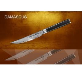 Нож кухонный стальной стейковый Samura Damascus SD-0031/16