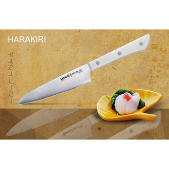 Нож кухонный Samura Harakiri универсальный, 120 мм, рук. белый пластик