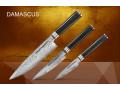 """Набор из 3 кухонных стальных ножей """"Поварская тройка"""" Samura Damascus SD-0230/16"""
