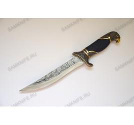 Нож сувенирный / подарочный на статуэтке